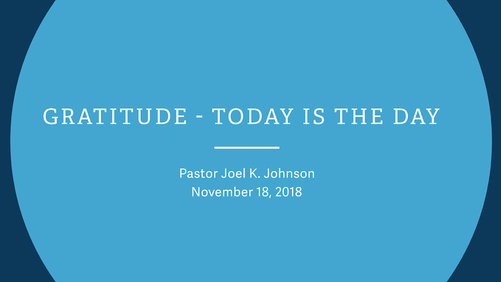Gratitude - Today is the Day